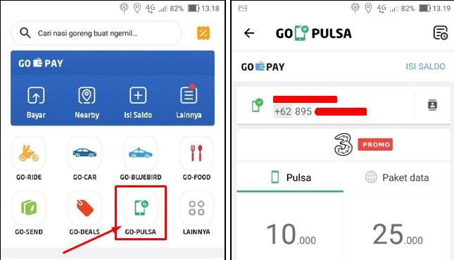 Cara Beli Pulsa Lewat GO-PULSA di aplikasi GO-JEK