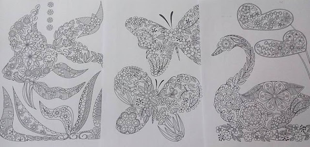 fish butterfly swan shaped coloring pages