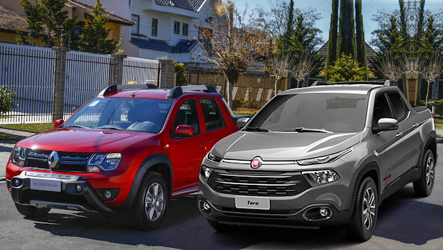 Fiat Toro 2017 x Renault Oroch Flex Automáticas - comparativo