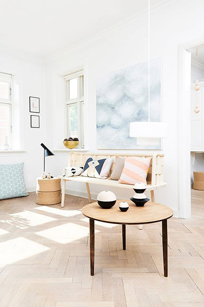 décoration scandinave accessoires pastel