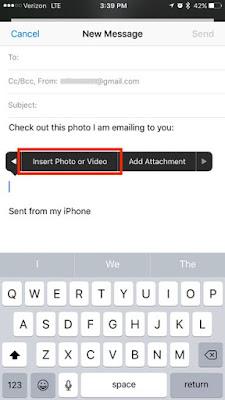 Cara Melampirkan Foto ke Email di iOS 10