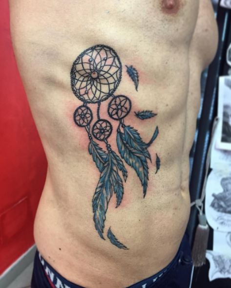 40 Dreamcatcher Tattoos For Men And Women 40 Page 40 Of 40 Simple Dream Catcher Tattoo For Guys