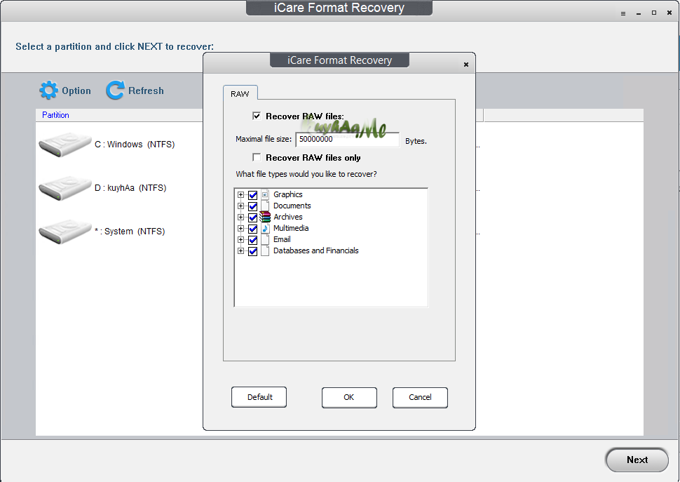 iCare Format Recovery