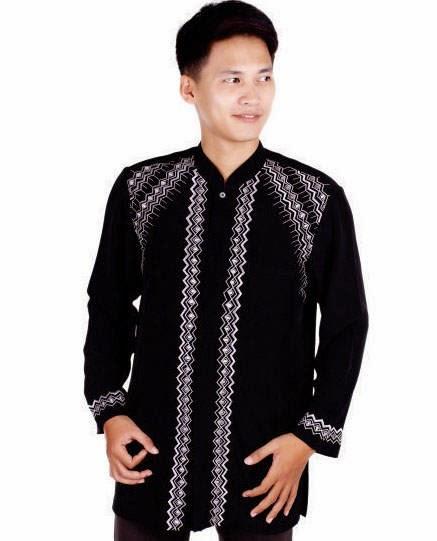 Contoh model baju muslim lengan panjang