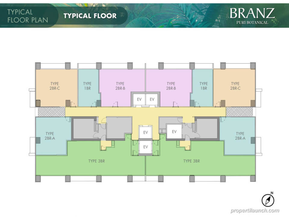 Floor Plan Branz Puri Botanical