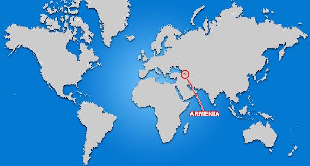 Gambar Peta Letak Negara Armenia