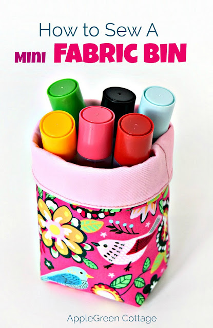 A mini fabric bin tutorial with a FREE template is a beginner ​sewing project that uses only little material and doesn't take a lot of time to complete​. Easily adjustable, simple and beautiful. ​Make a unique, cute DIY mini fabric bin with a fold-over top.