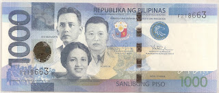 Present day Filipinos are surely familiar with the thousand peso bill. Perhaps not everyone, however, may be conscious of the significance of the three heroes portrayed on it. Those portrayed on the bill are the foremost Filipino martyrs of the resistance against the Japanese occupation of World War II, namely Chief Justice Jose Abad Santos, Josefa Llanes Escoda, and General Vicente Lim.