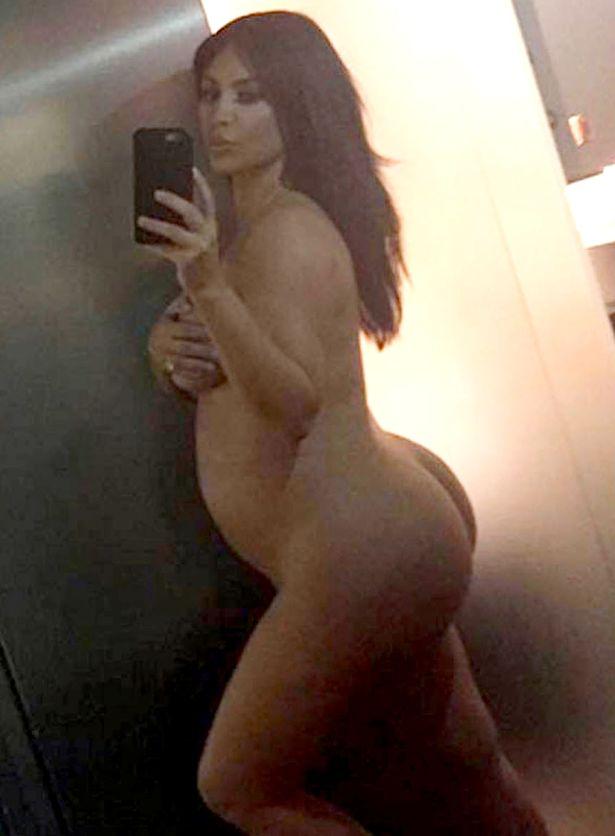 Naked ass kardashian kim Kim Kardashian
