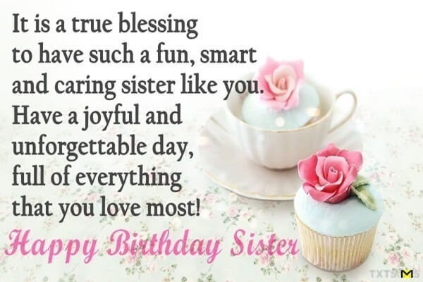 Top Happy Birthday Wishes Quotes For Sister In English Top English
