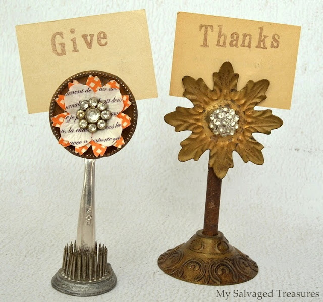 Junky flower picture holders