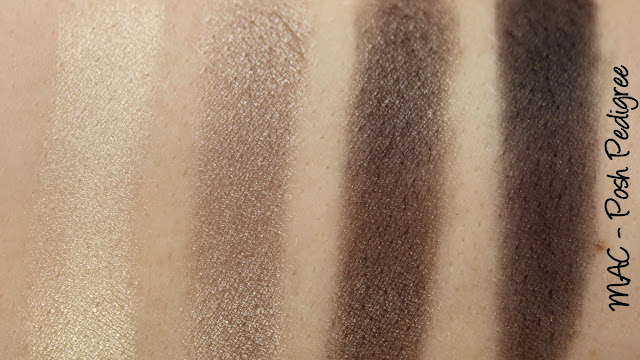 MAC Haute Dogs - Posh Pedigree Mineralize Eyeshadow x 4 Swatches & Review