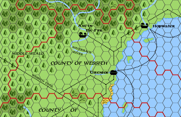 Mystara Alphatia Foresthome Wessith hex map