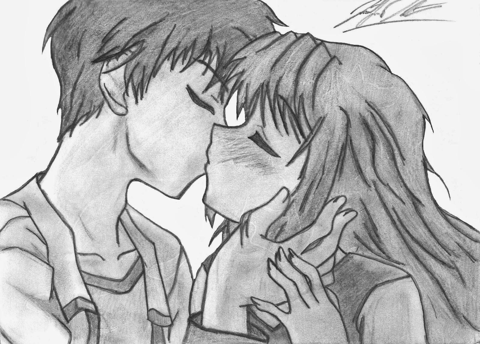 Gambar Kartun Jepang Kissing