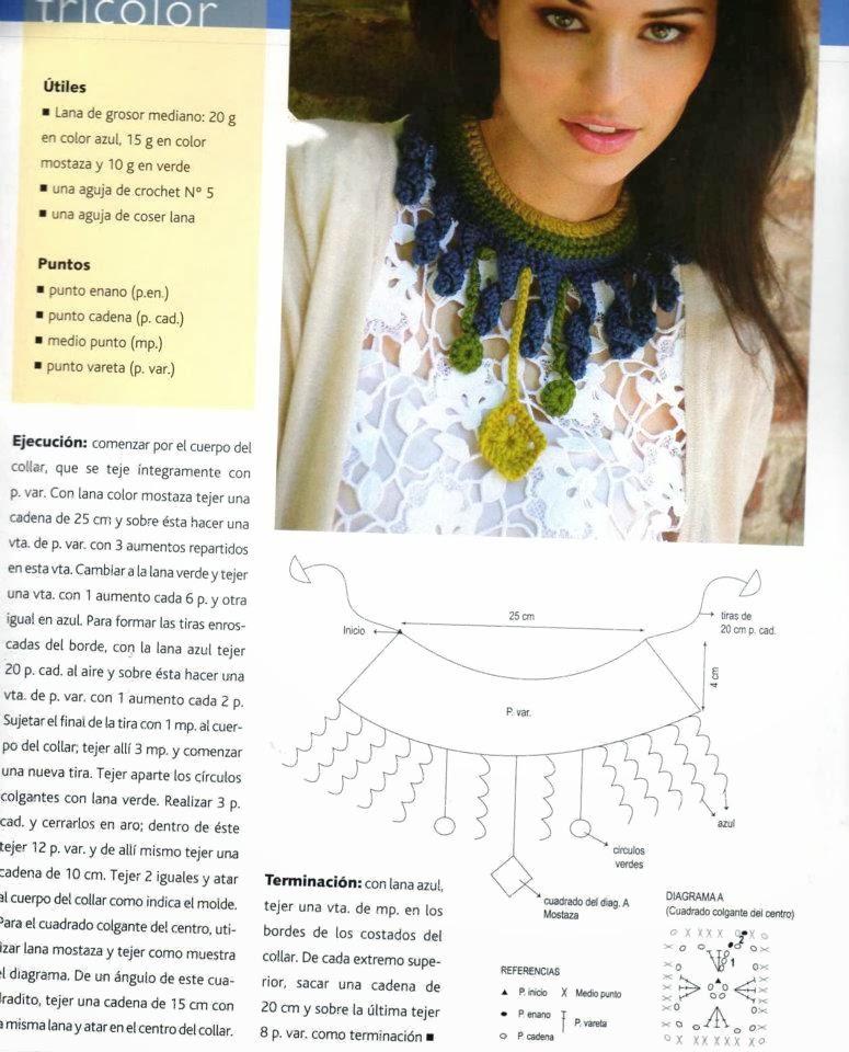 Gargantilla de Crochet Etnica Instrucciones