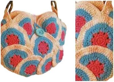 Bolso con Circulos Granny de Crochet Patron