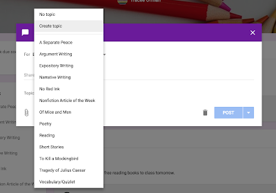 Creating New Topics in Google Classroom™  www.traceeorman.com