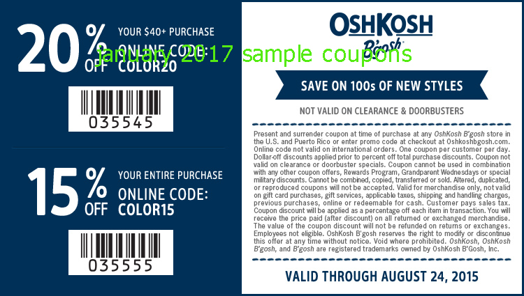 Oshkosh b gosh coupons