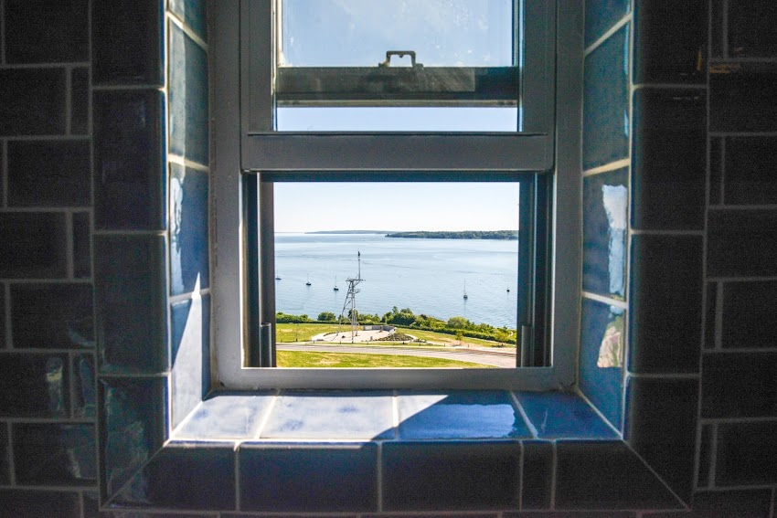 Portland, Maine USA June 2014 photo by Corey Templeton. For this Thursday Throwback, a bathroom with a view (overlooking Fort Allen Park).