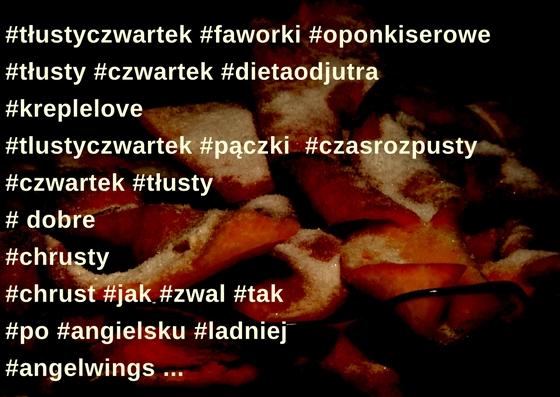 tłusty czwartek, instagram, hasztagi, hashtagi