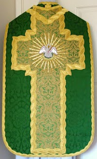 New Vestment Work: French Style Roman Set from Luzar Vestments