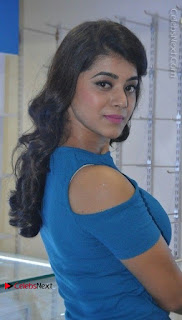 Yamini Bhaskar Latest Pictures in Blue Top and Black Skirt