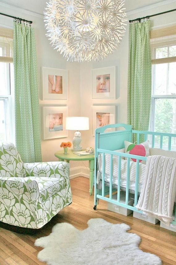 Dormitorio luminoso de bebé