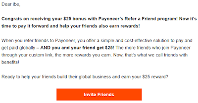 make money for just referring a friend to payoneer