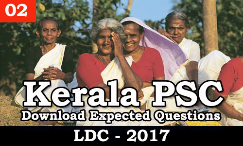 Kerala PSC - Download Expected Questions LDC 2017 - 02