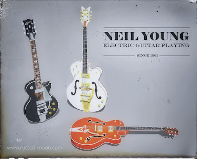 Neil Young vintage guitar ad
