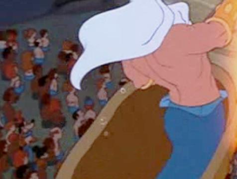 Goofy, Donald y Mickey en La sirenita - Cine de Escritor