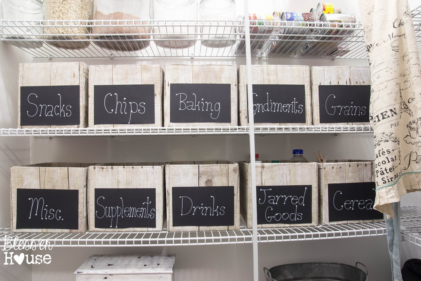 Bless'er House | The Cheapest Way to Organize a Pantry + Free Printable