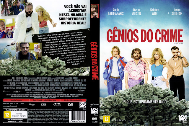 Capa DVD Gênios do Crime