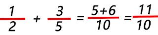 suma de dos números fraccionarios haciendo uso de la clase fraccion.java