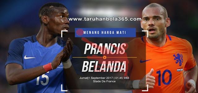 Prediksi Taruhan Bola 365 - Prancis vs Belanda 1 September 2017