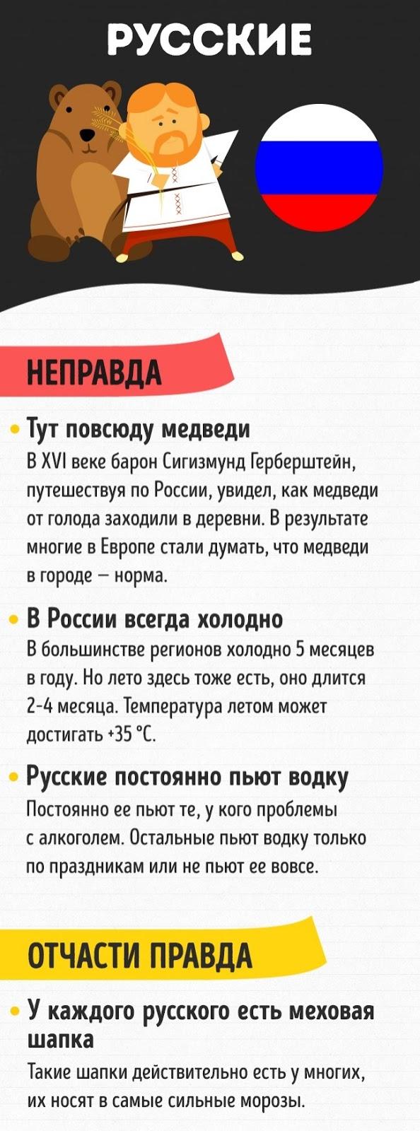 инфографика стереотипы о русских