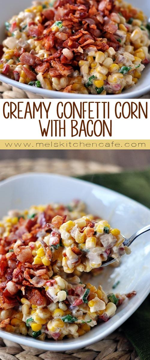 ★★★★☆ 7561 ratings | CREAMY CONFETTI CORN WITH BACON #HEALTHYFOOD #EASYRECIPES #DINNER #LAUCH #DELICIOUS #EASY #HOLIDAYS #RECIPE #CREAMY #CONFETTI #CORN #BACON