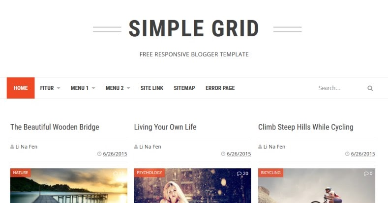 Simple Grid Blogger Template Rclipse Home Entertainment