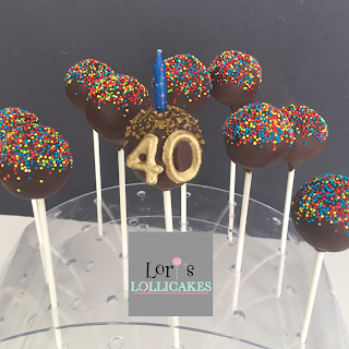 Brilliant Loris Lollicakes Happy 40Th Birthday Cake Pops Funny Birthday Cards Online Inifodamsfinfo