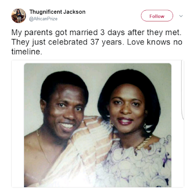 Couple got married 3 days after they met in 1980