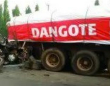 dangote truck hit and run accident