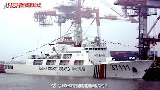 Entrega del buque 37111 (tipo 718) al servicio de Guarda Costas
