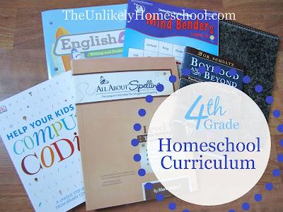 4th Grade Homeschool Curriculum {The Unlikely Homeschool}