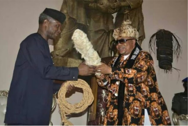 Osinbajo Bags Chieftaincy Title In Akwa Ibom, Conferred With Obong Emem Title