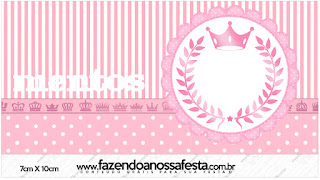 Etiquetas Mentos de Corona Rosada para imprimir gratis.