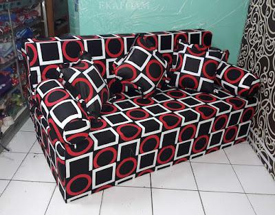 Sofa bed inoac motif gerai gory