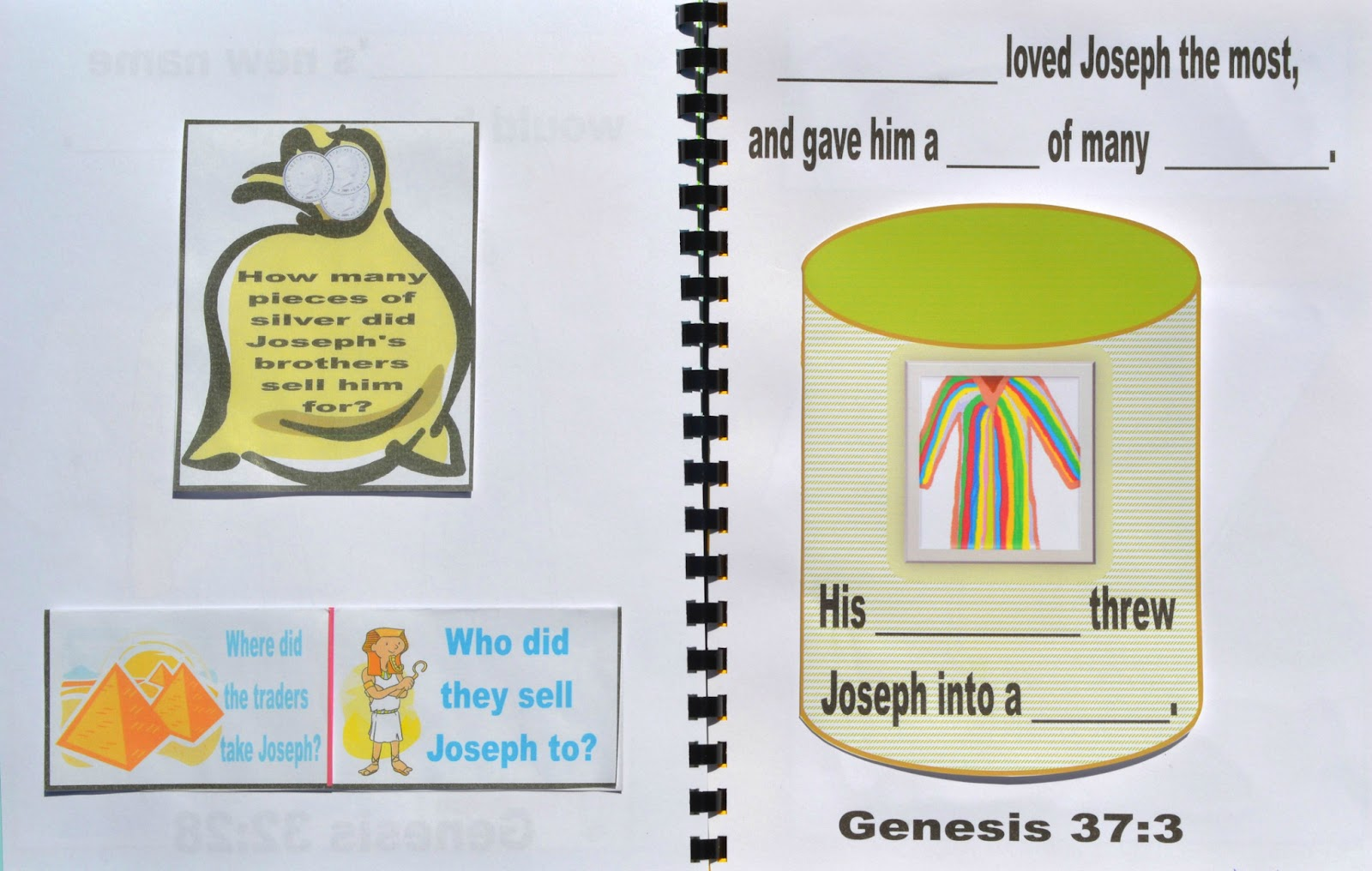 Bible Fun For Kids Genesis Joseph S Dreams And His Colorful Coat