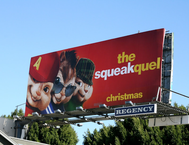 Chipmunks Squeakquel billboard