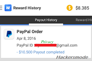 whaff payment proof