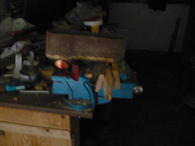 Arreglo de taburete, fabricacion de travesaño.